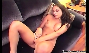 Erotic brunette girl loves to act out her