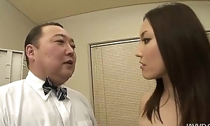 Nozomi Mashiro takes matters in hand painless this babe bosses an old bloke connected with