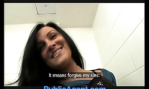 PublicAgent Sexy Clair shagging me in the lunch-room toilets