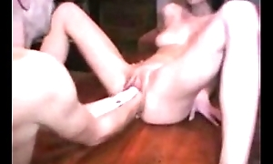 Amateur German Wife Double Fisting and Huge Dildo