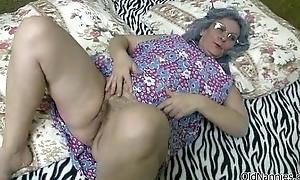 Sexy blonde girl receives her wet pussy