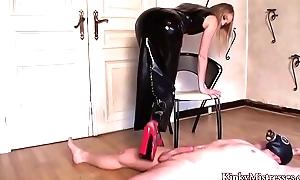 Blonde Mistress Rubber Tease