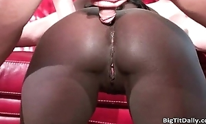 Hot nasty roasting black MILS slut receives her