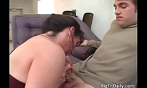 Nasty and horny brunette plow blows cock