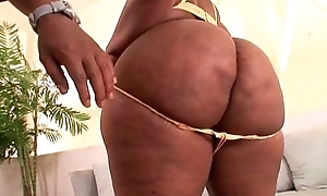 Ebony chick up hulking booty with an increment of huge