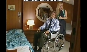 Classic porn on a boat on touching the blondie