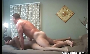 Hefty gay gets mouth and ass nailed