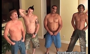 Gang bang instalment with horny slut get nimble