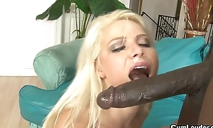 Hawt Anika Albrite gets pummeled by a giant black cock