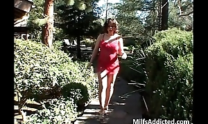 Lusty MILF receives double fucked as diabolical