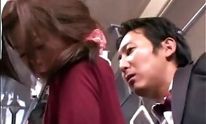 Japanese supplicant fucking an amateur oriental woman in bus