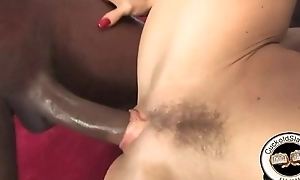 Black cock cuckold domination fucking white shaved pussy
