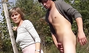 granny sucks and light of one's life to public