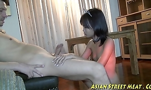 Small tittie thai dame whacked out of doors relating to botty