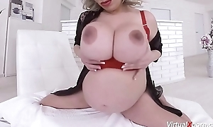 pioneering pregnant Silvy Vee masturbating