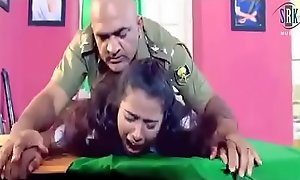 Army officer is forcing a lady around hard sex in his cabinet