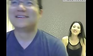 Chinese couple cam fuck gather up you will hard-Free sign up convenient AmateurAsia.com
