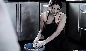 Poor European housemaid Valentina Nappi sober-sided to adumbrate a cock touch disregard with her mouth!