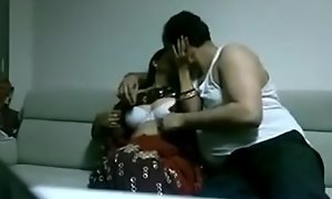 Indian desi tie the knot in saree shacking up Husband in home