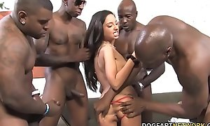 Brutal Anal Gangbang With Triple St. Clair