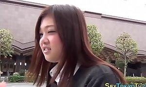 Japanese student flashing