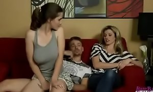 Molly Jane fucks the brush Dad behind Mommys fro