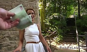 Beauteous anal fucked open-air pov for money