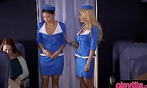 Domineer festival stewardess acquires fucked by a new chum