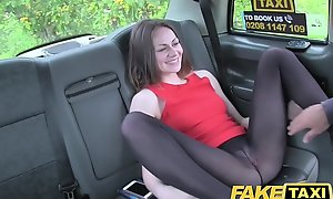 Fake Taxi Stunning deepthroat gagging brunette with in every direction get under one's fixtures