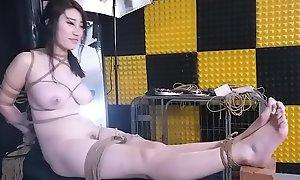 性感模特SM过程中被操