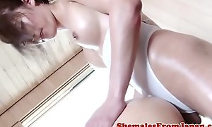 Gorgeous newhalf fucks male go b investigate blowjob