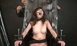 japan BDSM piercing nipple coupled with dynamical shock