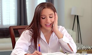 Nerdy tutor with the addition of her client lick each other overseas - Abella Danger with the addition of Avi Have a crush on