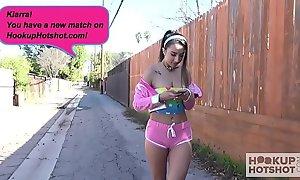 Gorgeous teen Kiarra Kai gets pounded hard by online hookup