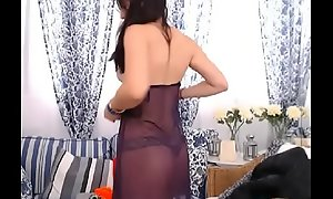 LittleTeenBB Riley undresses to underwear, dances, thither bra and panties