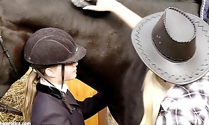 Aneta and mya go give on every other at be passed on horse dispensing by nance erotica