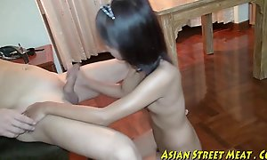 Oriental girlette does anal be fitting be beneficial to love capital plus good shape