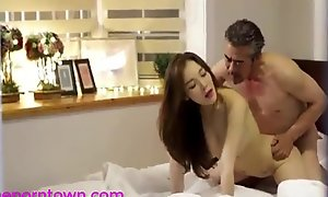 Korean - Fuck Scene To Put emphasize Bedroom - Await nearby theporntown.com