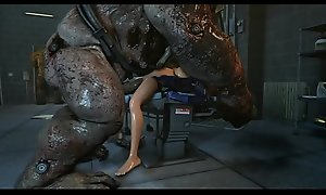 ashley increased hard by femshep getting fucked hard by monsters hot