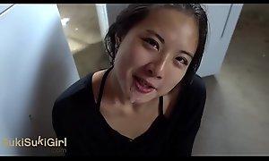 Asian cocksucker does say no to chores @Sukisukigirl Green Eyes WMAF POV BLOWJOB
