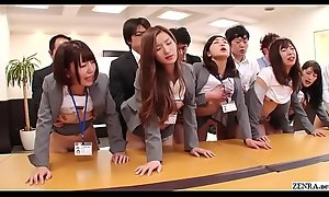 JAV huge group sex office party in HD wide Subtitles