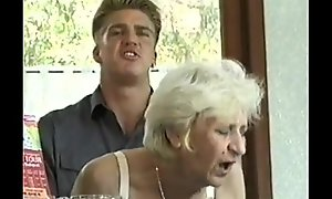 Ficky Martin fucks a blonde hairy granny very lasting  on along to hotel desk