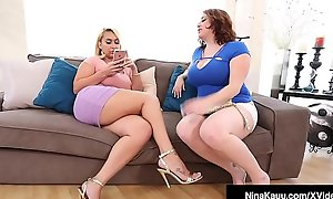Oversexed Nympho Nina Kayy Shares BBC With Maggie Green!