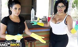 BANGBROS - My Twosome Dirty Maids Sheila Ortega and Kesha Ortega Out of reach of My Big Ol'_ Dick