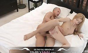Russian blonde gets ALL holes fucked by girlfriend - Anal Lovemaking