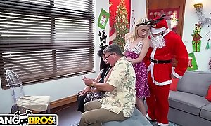 BANGBROS - Petite Young Blonde Anastasia Manly Drilled By Insulting Santa Claus!