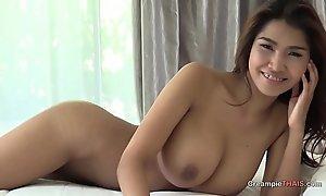 Big boobs vulnerable Thai girl creampie