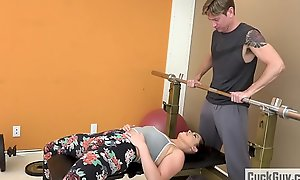 Cheating Partially matrimony Fucked by Her Gym Instructor