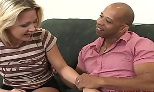 Dirty daughter Katarina Kat takes obese black cock