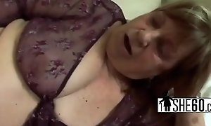 Hairy pussy pounded with fat cock